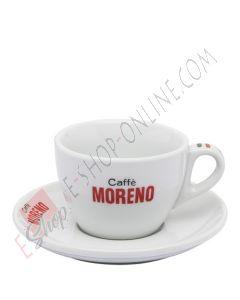 Tazzina Caffè Moreno in porcellana con piattino
