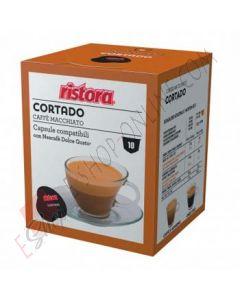 Capsule Caffè Cortado Macchiato Ristora compatibili con Dolce Gusto