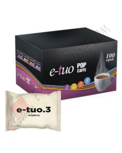 Capsule Pop Caffè E-Tuo Arabica compatibili Fiorfiore Coop, Aroma Vero e Lui